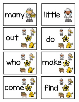 Bumblebee Fun Game Sight Words and EDITABLE