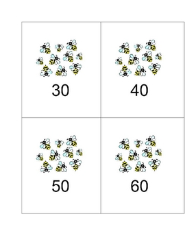 Bumblebee Math - Count by 10's and Story Problems