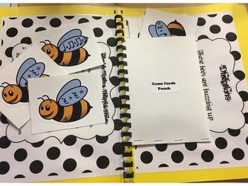Bumblebee Musical Math Game - (File Folder Game)