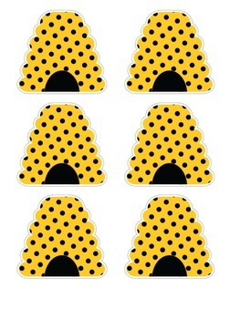Bumblebee Name Plates & Number Cards