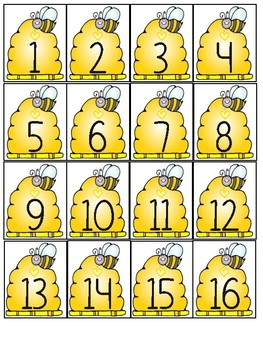 Bumblebee Number Tags