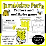 Bumblebee Paths - factors & multiples math game