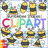 Bumblebee Shapes Clipart - Bee Shapes Clipart - Moveable!