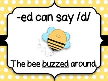 Sounds of -ed Posters: Bumblebees
