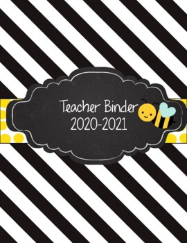 Bumblebee Teacher Binder 2017-2018