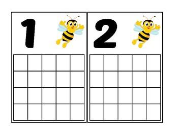 Bumblebee Ten Frame Activity (Numbers 1-20)