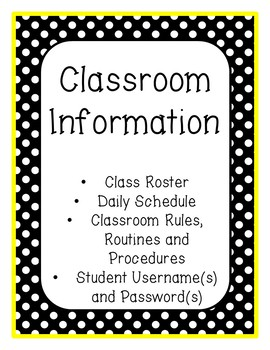 Bumblebee Theme (B.E.E.) Student Binder - with Editable Pages!
