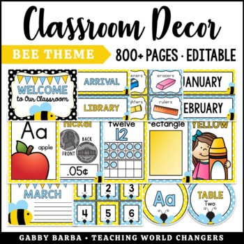 Bumblebee Classroom Decor Bundle {500+ pages!}