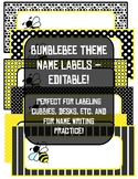 Bumblebee Theme Name Labels - Editable!
