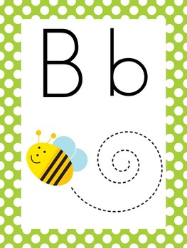 Bumblebee Theme Polka Dot Classroom Decor Pack