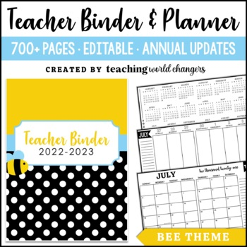 Bee Teacher Binder