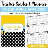 Bee Teacher Binder and Planner