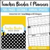 Bee Teacher Binder