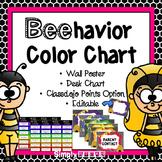 Classroom Management: Behavior Clip Chart Bumblebee Theme