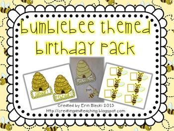 Bumblebee Themed Birthday Pack