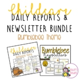 Bumblebee Themed Childcare Daily Reports with Matching New