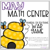 Bumblebee War Greater Than Less Than Game Kindergarten May Math Center