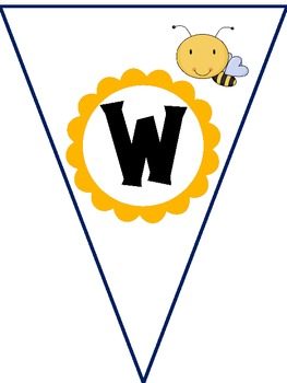 Bumblebee Welcome Pennant Banner for Bee Theme