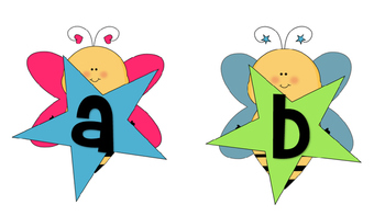 Bumblebee Word Wall Letters