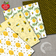 Bumblebee and Honeycomb Digital paper, Honey Bee Papers, AMB-1055