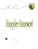 Bumblebee letter identification & binder covers