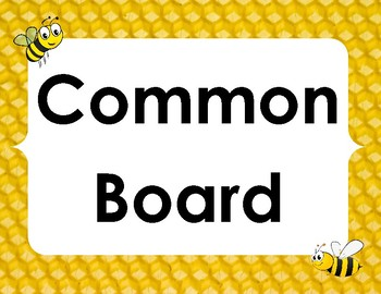 Bumblebee themed common board subject labels