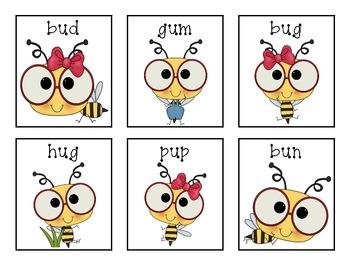 Bumbling Bugs! Short u activities!