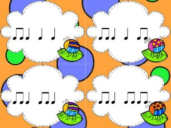 Bump! A Game to Practice Quarter Note and Rest and Eighth Notes SAMPLER