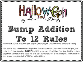 Bump Addition, Subtraction, and Multiplication: Halloween Theme