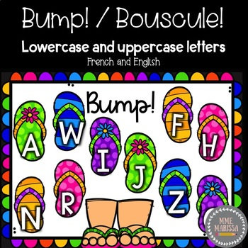 Bump! Bouscule! Literacy: Match lowercase and uppercase letters