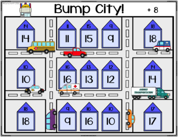 Bump City!  Addition Bump Games to 18