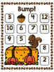 Bump! Fall Addition Game Boards
