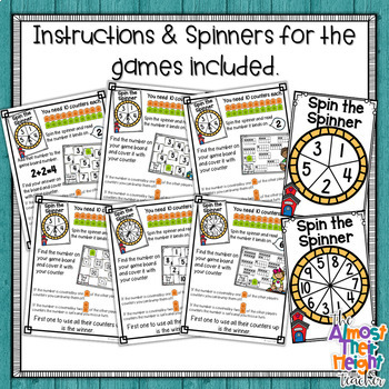 Bump Games ~ Back To School ~ Number Sense Games for 1-5 & 1-10