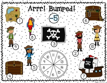Pirate Bump!  20 Games for Addition and Subtraction Facts Within 20