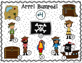Pirate Addition and Subtraction BUMP! Facts Within 20