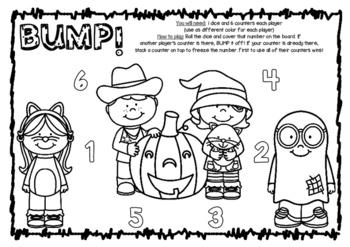 Bump! Halloween Trick or Treat Themed Game Board