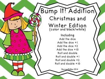 Bump It!  Addition Games: Christmas and Winter Edition