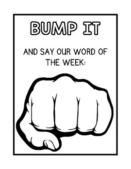 Bump It! Sight Word Poster