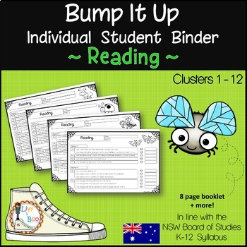 Bump It Up ~ Individual Student Binder ~ READING ~ Editable Cover Pages
