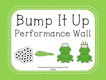 Bump It Up Performance Wall Posters {Frogs Theme} - Green Background