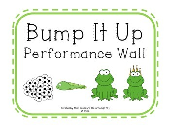 Bump It Up Performance Wall Posters {Frogs Theme} - White