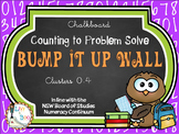 Bump It Up Wall - Australian Continuum - COUNTING TO PROBLEM SOLVE - Chalkboard