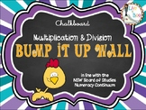 Bump It Up Wall - Australian Continuum - MULTIPLICATION & DIVISION - Chalkboard
