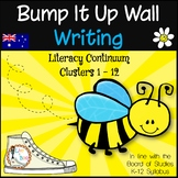 Bump It Up Wall - Australian Curriculum Aligned - WRITING Clusters BTSDOWNUNDER
