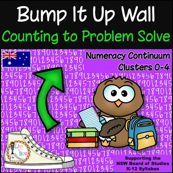 Bump It Up Wall - Australian Numeracy Continuum - COUNTING TO PROBLEM SOLVE