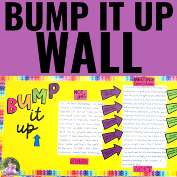 Bump It Up Wall | EDITABLE For Writing or Any Other Subject