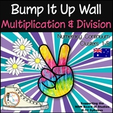 Bump It Up Wall - Australian Numeracy Continuum - MULTIPLICATION & DIVISION