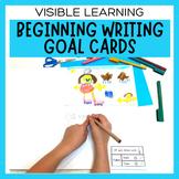 Individual Writing Goal Feedback Cards - Bump It Up Wall