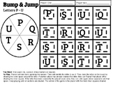 Bump & Jump Letter Game Letters P - U