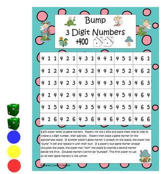 Bump:  Math Dice Games Package